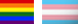 trans and rainbow pride flags
