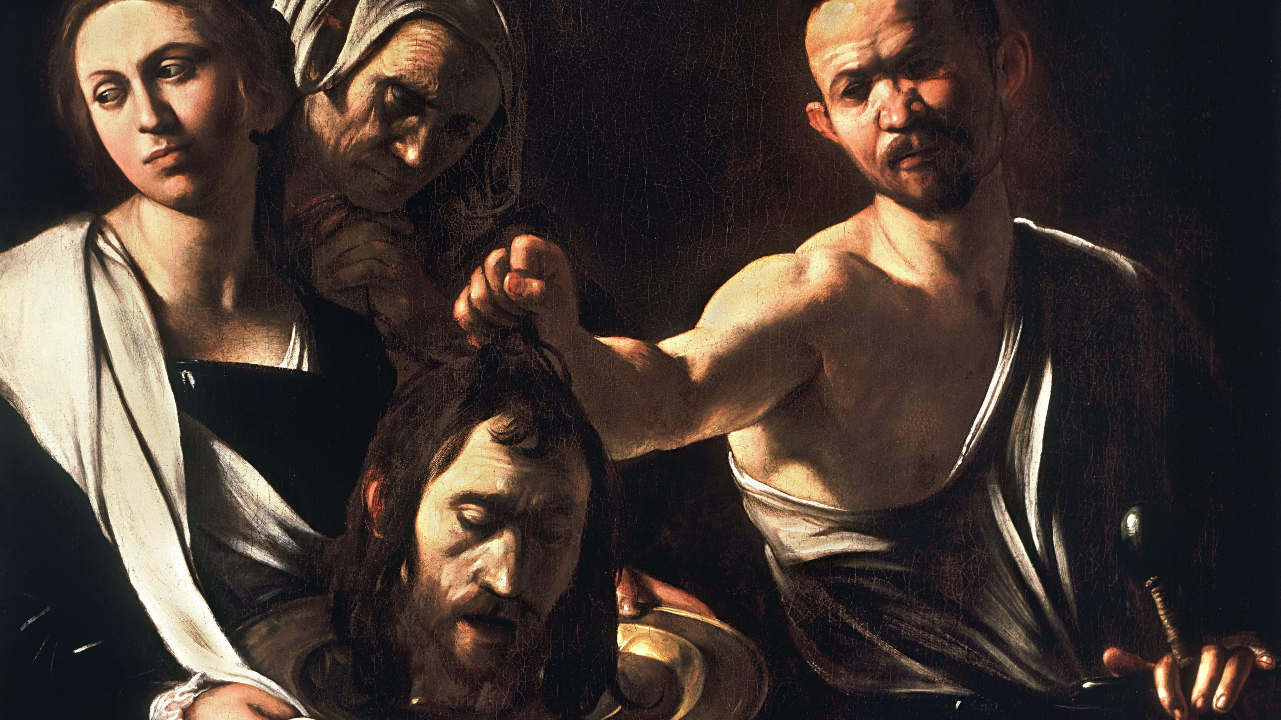 salome and the head of john the baptist by caravaggio